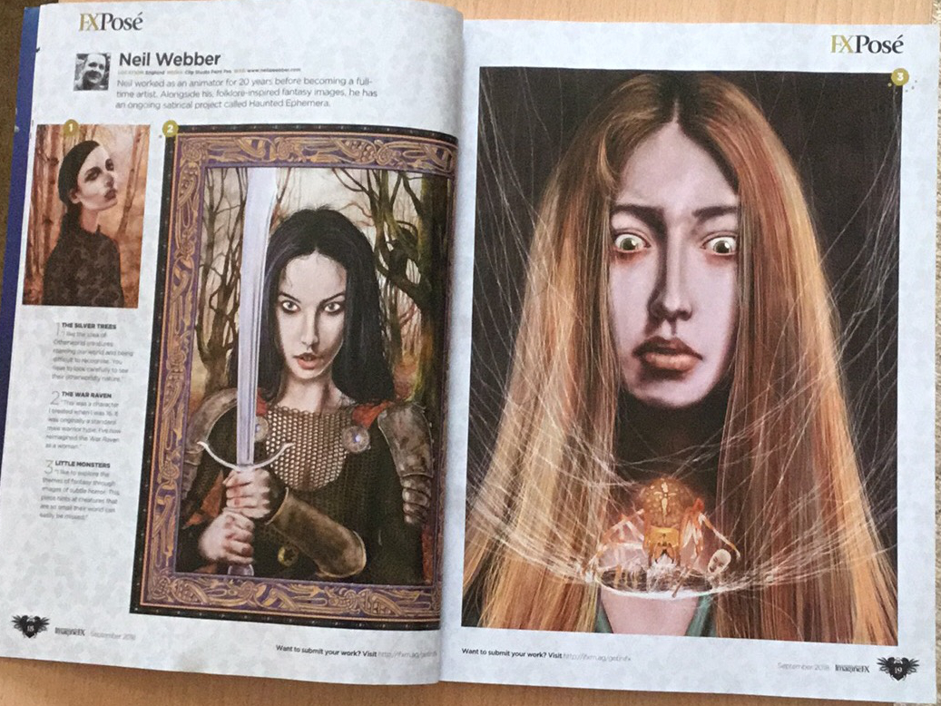 My work in issue 164 of ImagineFX