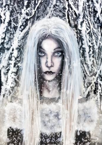 "Holda which means ""gracious one"" is a highly revered Teutonic Goddess. Holda is closely associated with Winter and Yule as it is Holda that brings the snow. Holda can tell the naughty children from the good and rides thru the sky on Yule Eve."