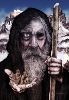Odin The Gift Giver The idea of an oldman with a beard bringing gifts at Yule time can be traced back to the norse god Odin who wandered the land at midwinter rewarding good children with gifts