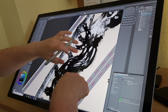 Zooming into the Workspace on the Surface Studio 2