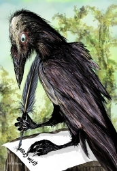 Grim Crow bookmark