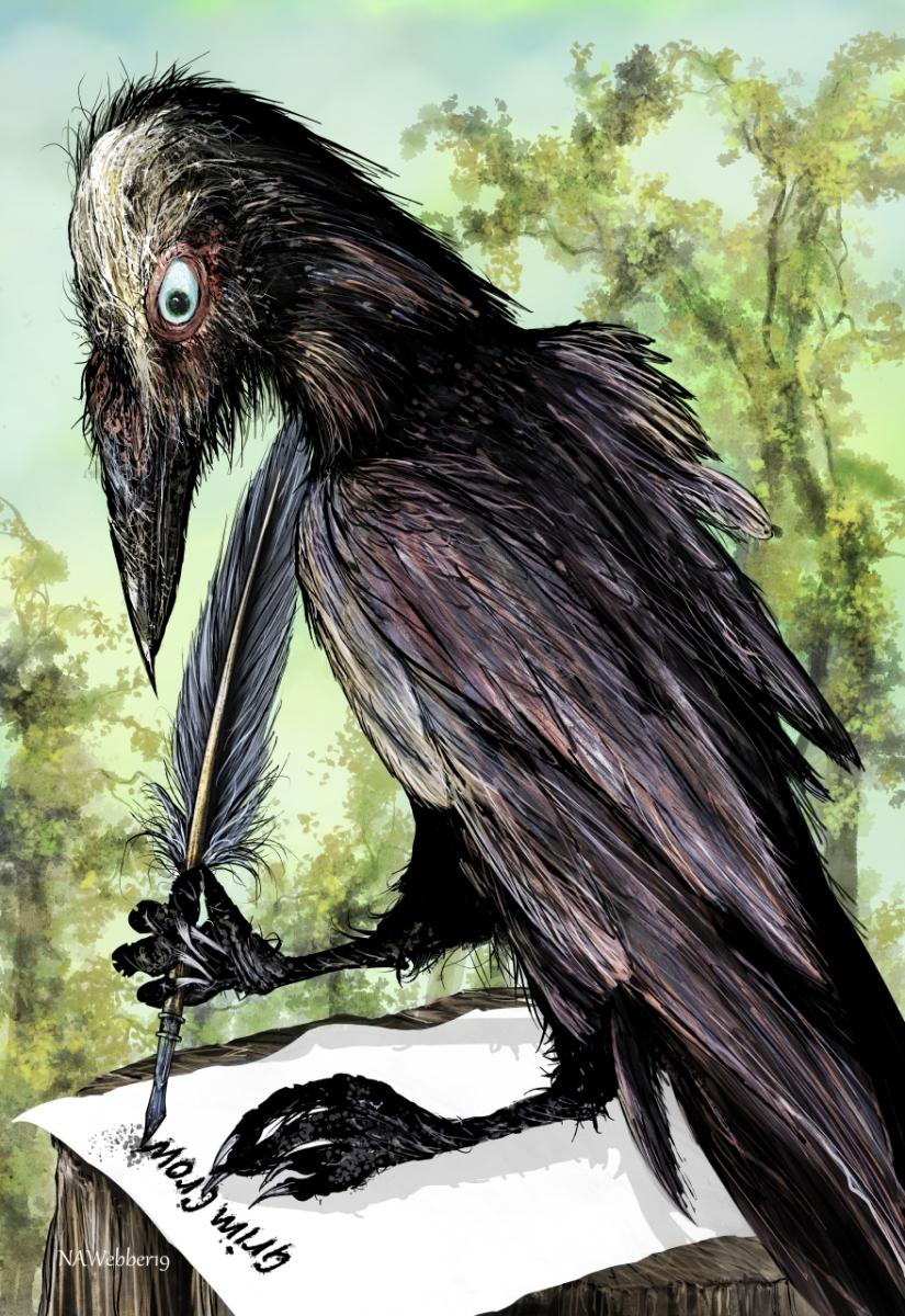 Grim Crow bookmark