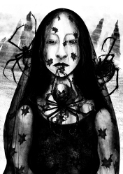 lady arachne from Hexa Eldritch book 1