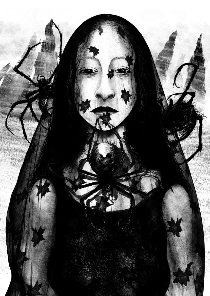 lady arachne from Hexa Eldritch book 1